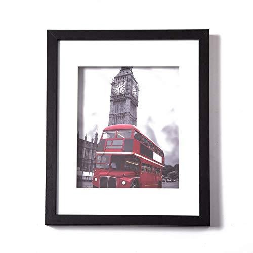 Muzilife Tiefe Bilderrahmen 28x35cm 1 Stück mit Glasscheibe Schwarz 3D Fotorahmen für Portrait/Galerie im Wohnzimmer oder Kaffee