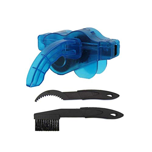 Tralntion 3PCS/Set Bicycle Chain Cleaner Scrubber Brushes Mountain Bike Wash Tool Set Cycling Cleaning Kit Bicycle Repair Tools