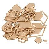SEVENHOPE 54pcs Modèle De Patchwork De Mélange De Patchwork Réutilisable Outil De Bricolage pour Patchwork