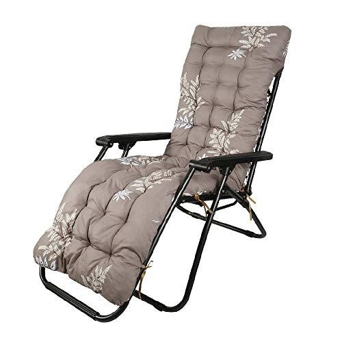 Auflagen für Gartenliegen Gartenstuhlauflage Polster für Relaxstühle Auflage Sonnenliege Anti-Rutsch-Design Hochlehner Liegenauflagen Relaxliege Sitzkissen Waschbar für Gartenstühle 170x53x7cm (C)