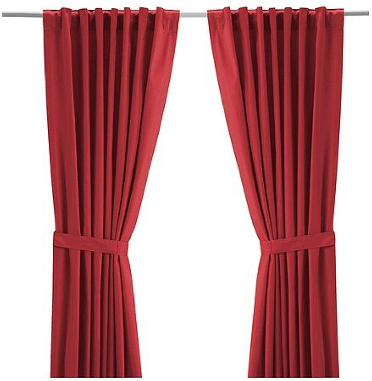 IKEA RITVA -Vorhänge mit Raffhalter 1 Paar rot - - - 145x300 cm B00HNERMJS 1bad28