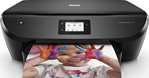 HP Envy Photo 6230 – Impresora de inyección de tinta 3IN1 multifunción inalámbrica (tinta, Wi-Fi, copiar, escanear, impresión a doble cara, 1200 x 1200 ppp) color negro