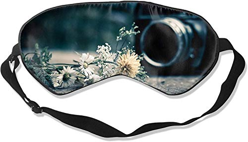Video Camera Print Comfortable Soft Best Sleeping Eyeshade * with Adjustable Strap for Travel Work Naps Blocks Light-Cameras Print-One Size100% Silk Sleep Mask Eye Mask