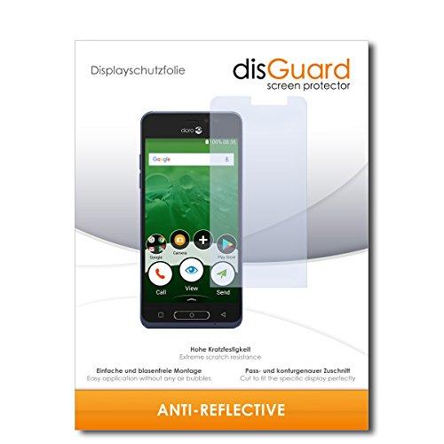 disGuard® Bildschirmschutzfolie [Anti-Reflex] kompatibel mit Doro 8035 [2 Stück] Entspiegelnd, Matt, Antireflektierend, Extrem Kratzfest, Anti-Fingerabdruck - Panzerglas Folie, Schutzfolie
