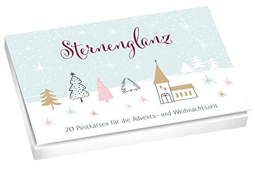 Sternenglanz - Postkartenbuch. 20 Postkarten Für Die Advents- Und Weihnachtszeit