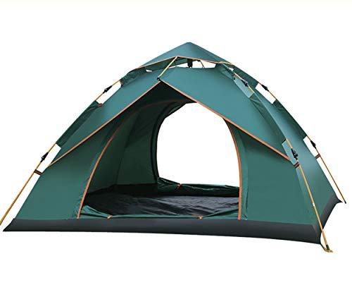 Wurfzelt Pop Up Zelt 3-4 Personen Campingzelte Zweischichtiges Kuppelzelt Winddicht Wasserdicht und Schnellaufbau für Camping Trekking Outdoor, 240 x 210 x 135cm, Doppelschicht Familienzelt,Strandzelt