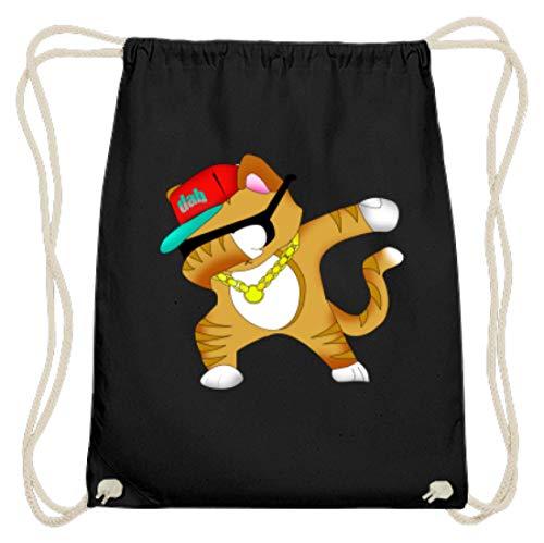 Dabbing Cat Katze Mütze Cap Baseball Kette Kitty Süß - Schlichtes Und Witziges Design - Baumwoll Gymsac