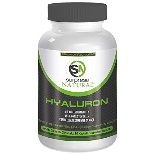 Surpresa Natural® - Hyaluronsäure 500 mg - 90 Hyaluronsäure Kapseln | hochdosiert und vegan | 500 mg Hyaluronsäure plus Apfel Stammzellen | für frische und junge Haut
