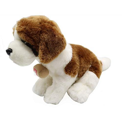 JIAL St Bernard Dog Puppe Plüschtiere for Kinder Geschenk-Stofftier Soft-Such- und Rettungshunde 20Cm Chongxiang