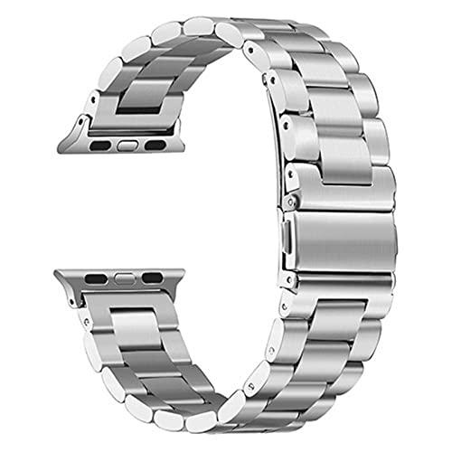 42 mm 38 mm Banda de acero inoxidable de metal para Apple Watch Band 40 mm 44 mm Correa de pulsera Bandas de reloj para iWatch Series SE 6 5 4 3 2 1
