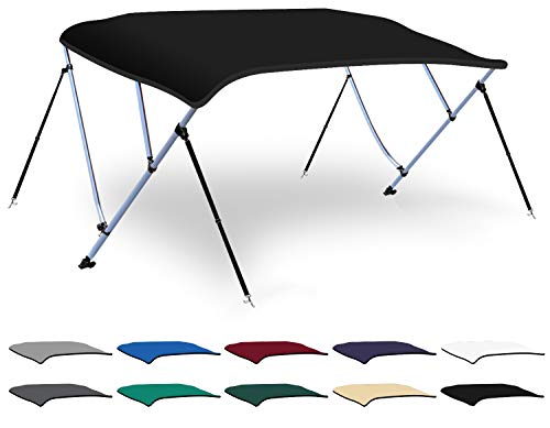 Best Buy! XGEAR 3-4 Bow Bimini Top Boat Cover with 4 Straps, Mounting Hardwares and Storage Boot, Fu...