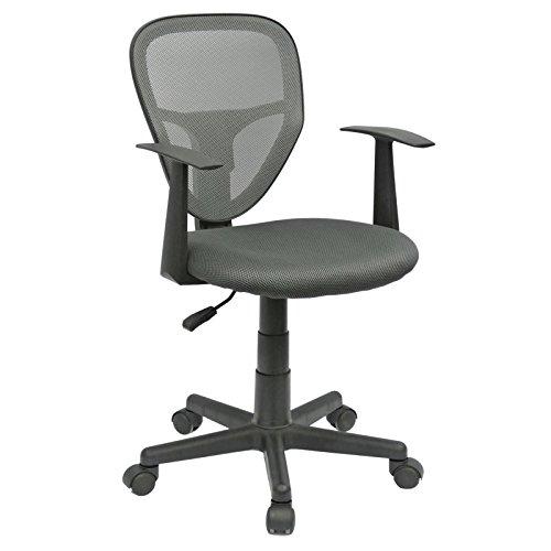 CARO-Möbel Schreibtischstuhl Kinderdrehstuhl Bürostuhl Drehstuhl Studio in grau anthrazit mit Armlehnen, höhenverstellbar