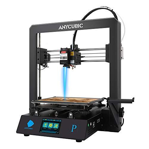 ANYCUBIC Mega Pro Impresora 3D, con impresión 3D (210×210×205mm) y grabado láser (220×140mm), soporta filamento PLA de 1.75mm