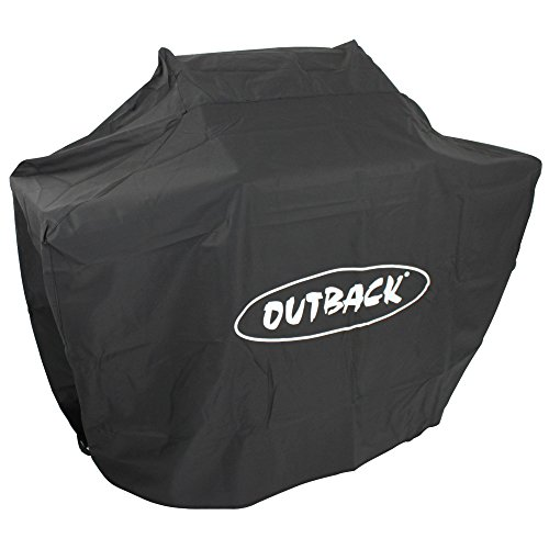 Outback Premium BBQ Cover To Fit 4 Burner Gas Hooded Meteor /Jupiter /Apollo/Full Drum > Water resistant and breathable protective cover with high thread count - OUT370092