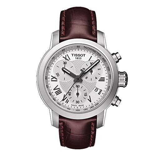 Tissot Unisex Erwachsene Chronograph Quarz Uhr mit Leder Armband T055.217.16.033.01