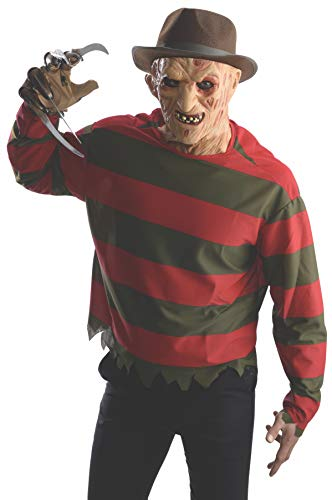 Rubie's Men's Nightmare On Elm St Freddy Krueger Costume Shirt with Mask, Multicolor, Extra-Small - http://coolthings.us