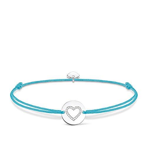 Thomas Sabo Damen-Armband Little Secrets Herz 925 Sterling Silber Türkis LS069-401-31-L20v