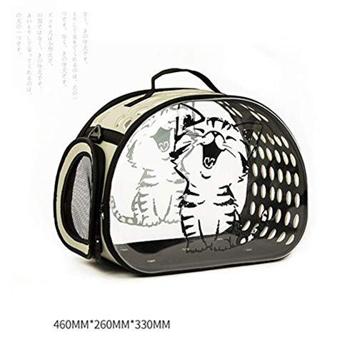 HWZPX Pet Carrier Bag Transparent Handbag Dog Cat Puppy Rabbit Cage Transport, Bring Your Pet Along in The Best Pet Travel Accessories