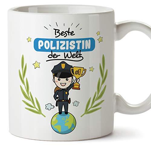 Mugffins Polizistin Tasse/Becher/Mug Geschenk Schöne and lustige kaffetasse - Beste Polizistin der Welt - Keramik 350 ml