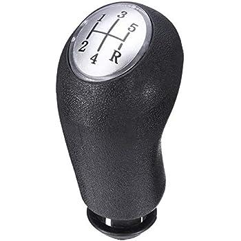 Tapa negro AERZETIX: Pomo para palanca de cambios de coche C10976 Modelo de peso ligero