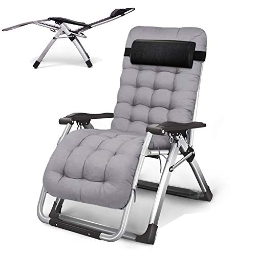 TopJiä Adjustable Zero Gravity Chair Lounge.Lounge Chairs for Outdoor with Padded,Beach Lounge Chairs Folding E