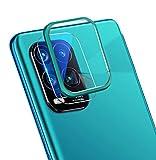 NOKOER Protector de Lente de Cámara para Xiaomi Mi 10 Lite 5G/Mi 10 Youth, [2 en 1] Anillo Protector Metálico para la Cámara + Película Protectora para la Cámara - Verde