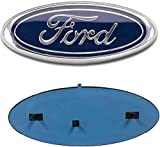 OSIRCAT for Ford Front Grille Tailgate Emblem,Oval 9'X3.5' 2004-2014 F150 Blue Decal Badge Nameplate Also Fits for 04-14 F250 F350,11-14 Edge,11-16 Explorer,06-11 Ranger