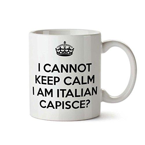 Novità tazze stampate divertenti regali Ufficio divertente Tazza da caffè non riesco a mantenere la calma io sono italiano
