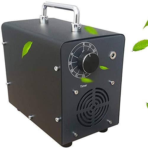 LLDW Generador de ozono 5.000 mg/h, purificador de aire profesional O3 con temporizador ajustable, con cable para encendedor de cigarrillos y inversor de corriente, para máquinas de ozono de mascotas