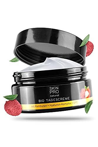 100ml Bio Tagescreme mit Hyaluron-Säure SKIN PRO natural® und Aloe Vera, hochwertige Anti Aging...