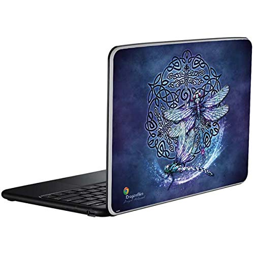 Skinit Decal Laptop Skin for Chromebook - Originally Designed Dragonfly Celtic Knot Design