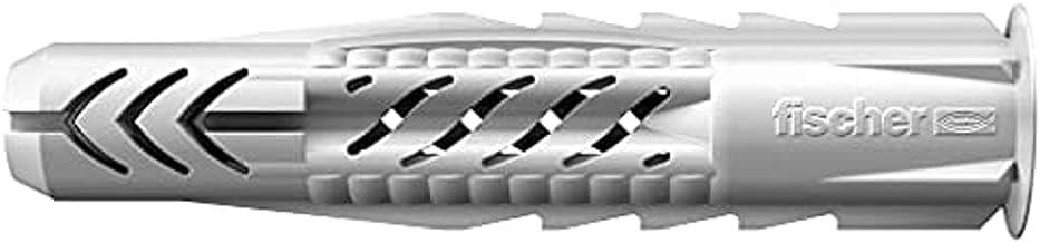 FISCHER Universele pluggen UX 8 x 50 R, doos met 100 nylon pluggen, multifunctionele pluggen met rand, voor optimale grip ...