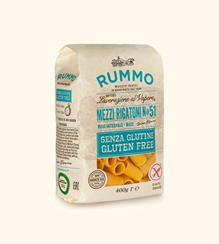 Rummo - Mezzi Rigatoni n.51 Gluten Free Trafilati al Bronzo - 12 Confezioni da 400 g