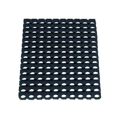 BROSSERIE THOMAS - Tapis Caillebotis en Caoutchouc Noir 100x150 Cm