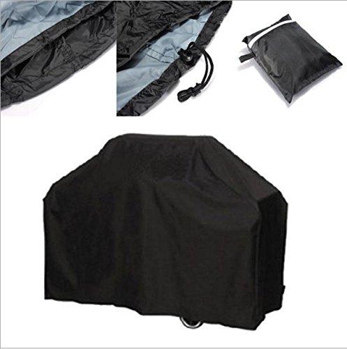 Yeah67886 Housse de protection imperméable pour barbecue Noir