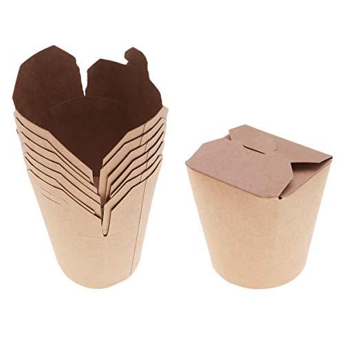 YARNOW Recipiente De Papel Caja De Comida Rápida Caja Bento Cubo De Embalaje 16 Onzas 50 Piezas para La Venta