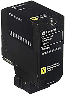 Lexmark High Yield Yellow Toner Cartridge, 12000 Yield (74C0H40)
