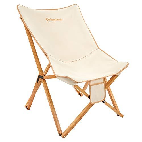 KingCampアウトドアチェア 折りたたみ式椅子 耐荷重120kg キャンプ ハイキング いす 簡易 コンパクト イス 収納バッグ付き