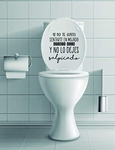 Thermodernizate Vinilo, Pegatina Decorativo para WC y baño Frase apunta Bien