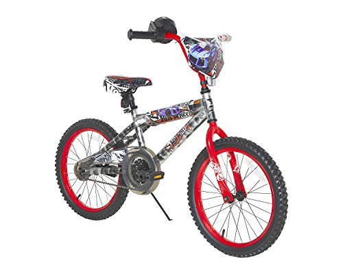 Hot Wheels 18u0022 Kids Bike - Light Silver/Red