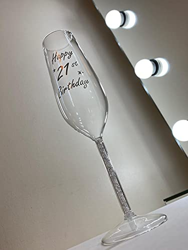 Copa de champán con cristales Swarovski