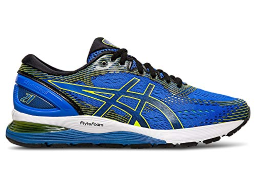 ASICS Men's Gel-Nimbus 21 Running Shoes, 10.5M, Illusion Blue/Black