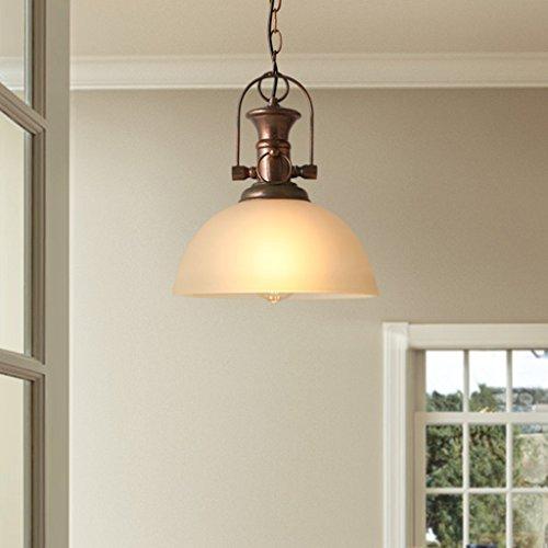 STAGE LIGHTING Lustres simples en verre d'art de fer principal, lustre rural américain de restaurant de barre de style de LOFT