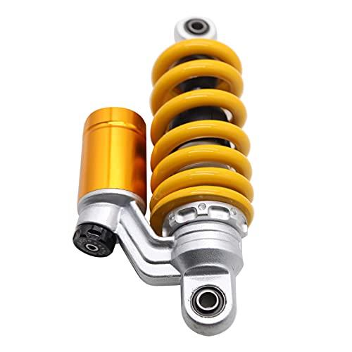 Montloxs Amortiguador de motocicleta individual de 9,4 `` / 240 mm, redondo, universal, de repuesto, puntal de suspensión trasera, amortiguador central, diámetro del ojo de 10 mm