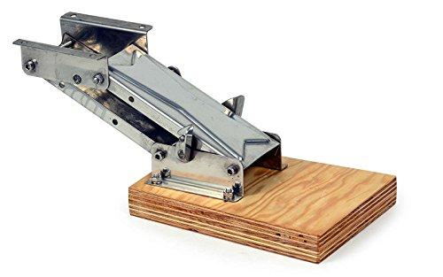 wellenshop Motorhalter Motorhalterung Außenborder bis 15 PS Edelstahl Holz Boot