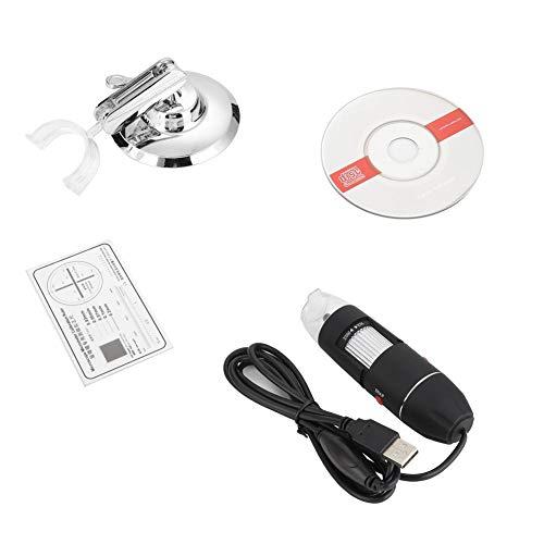 Pbzydu Microscopio electrónico portátil, WiFi inalámbrico Microscopio electrónico 500X Lupa USB para computadora del teléfono