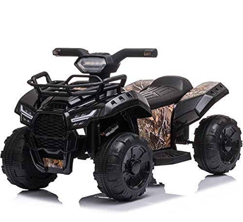 Mondial Toys Moto ELETTRICA per Bambini Mini Quad 6V ATV Full Optional Nero
