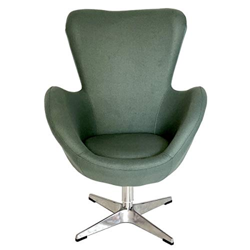Cocoon Designer-Sessel, Stoff, Grau/Grün