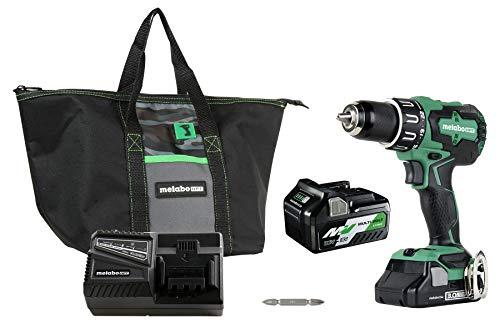 Metabo HPT DV18DBFL2T 18V Cordless Brushless Hammer Drill, Includes Two Batteries, 1-36V/18V Multivolt 5.0 Ah & 1-18V Compact 3.0 Ah Battery, 1/2