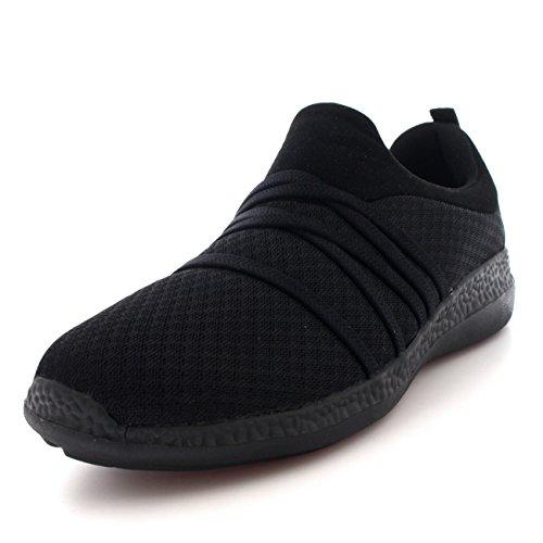 Womens lichtgewicht mesh wandelen pomp Comfy gewatteerde schoenen platte trainers